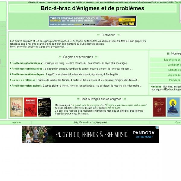 Logo Bric-à-brac d'énigmes et de problèmes