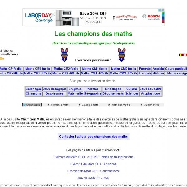 Logo Les champions des maths
