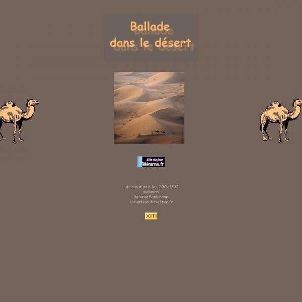 Logo Ballade dans le désert