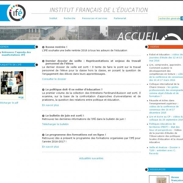 Logo Institut National de Recherche Pédagogique