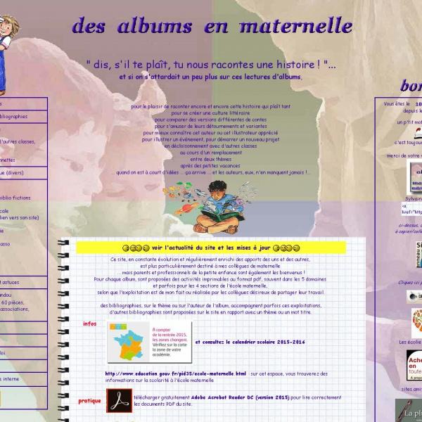 Logo Des albums en maternelle