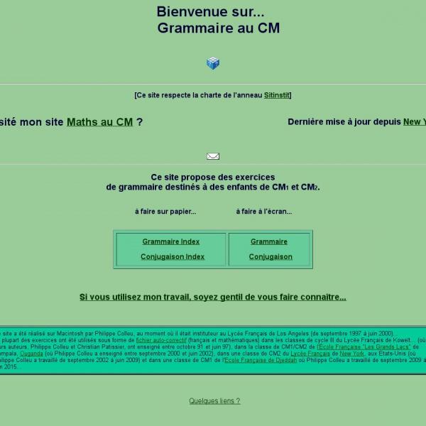 Logo Grammaire au CM