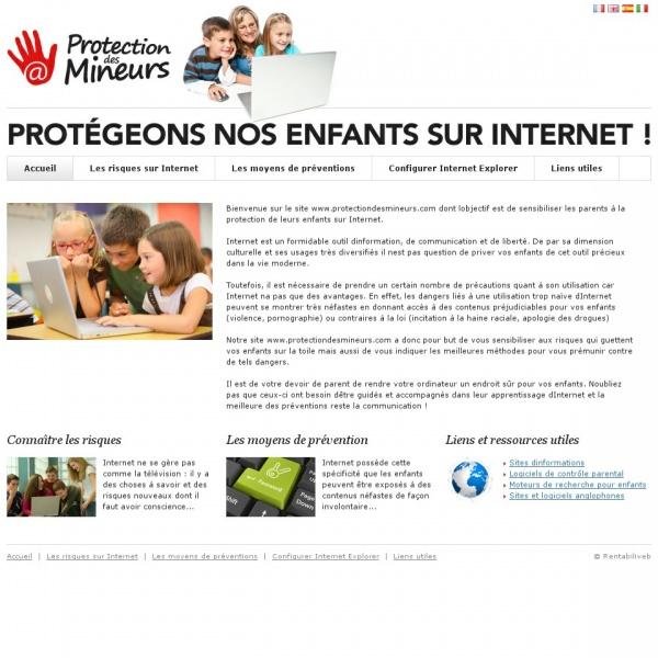 Logo Protection des mineurs sur Internet