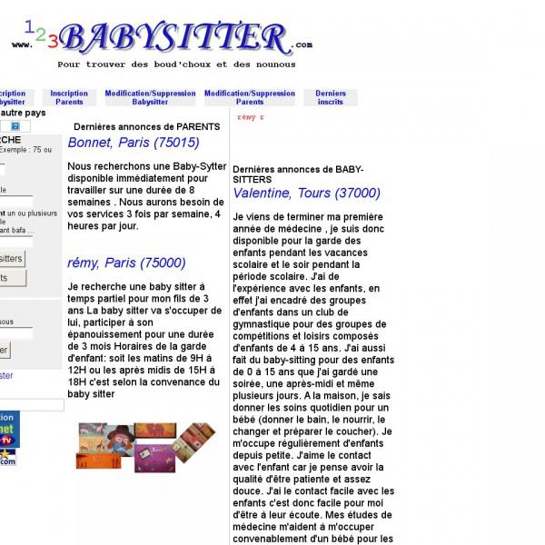 Logo 123 baby sitter