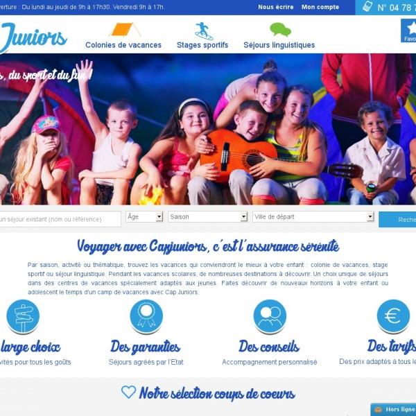Logo Cap Juniors – L'agence de voyages des 4 – 25 ans