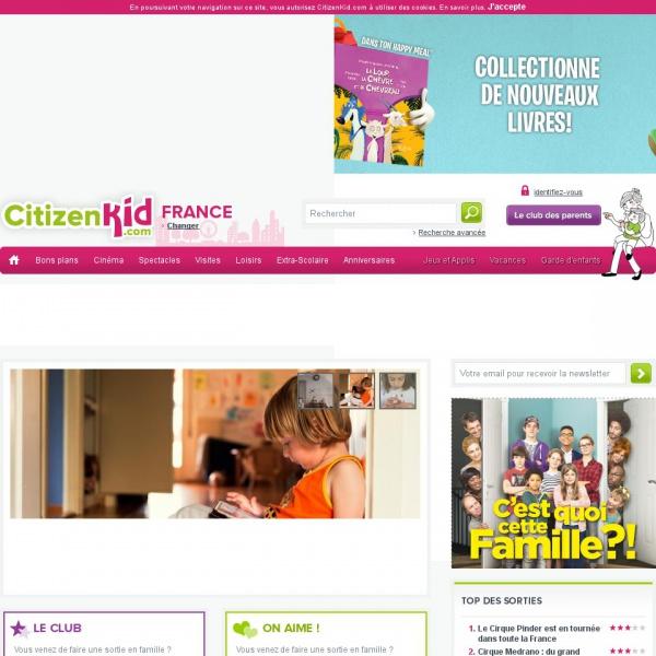 Logo CitizenKid, le guide pratique des parents et enfants à Lyon