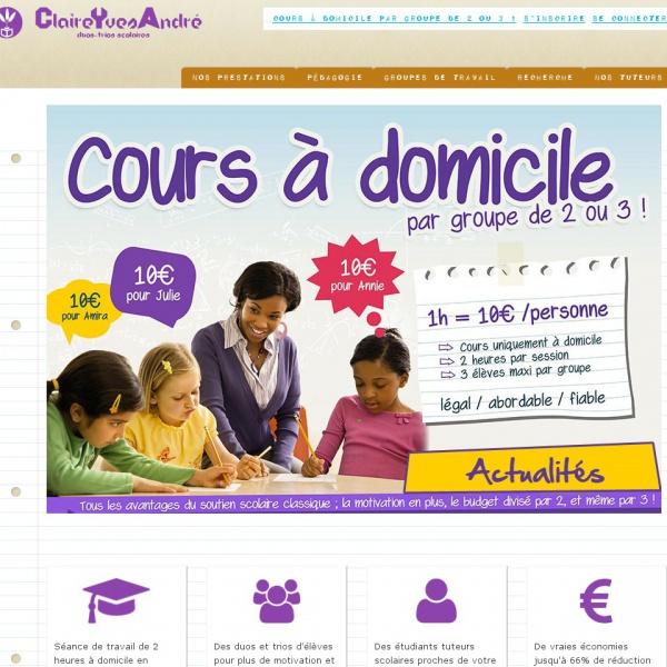 Logo Cours partagés pour enfants – ClaireYvesAndré