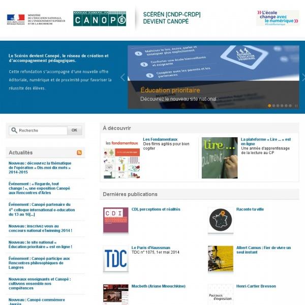 Logo Centre national de documentation pédagogique