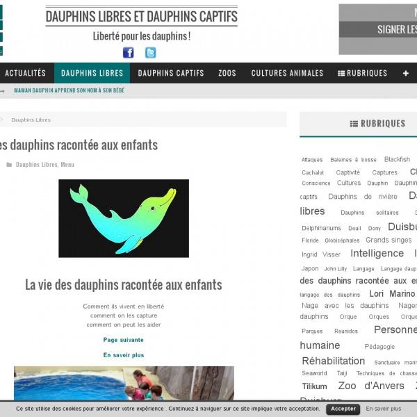 Logo La vie des dauphins racontée aux enfants