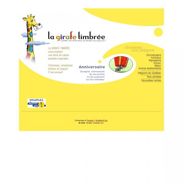 Logo La girafe timbrée