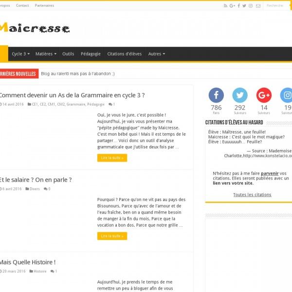 Logo Maicresse, blog d'une prof