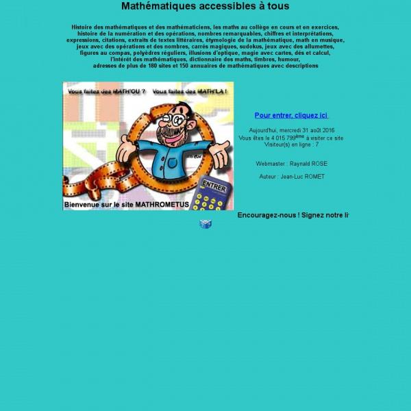 Logo Mathématiques accessibles à tous