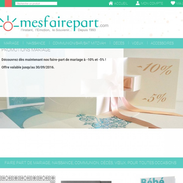Logo Vente en ligne de faire-part – Mesfairepart.com