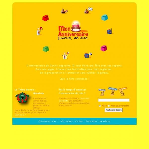Logo Anniversaires et fêtes d'enfants autour d'un thème