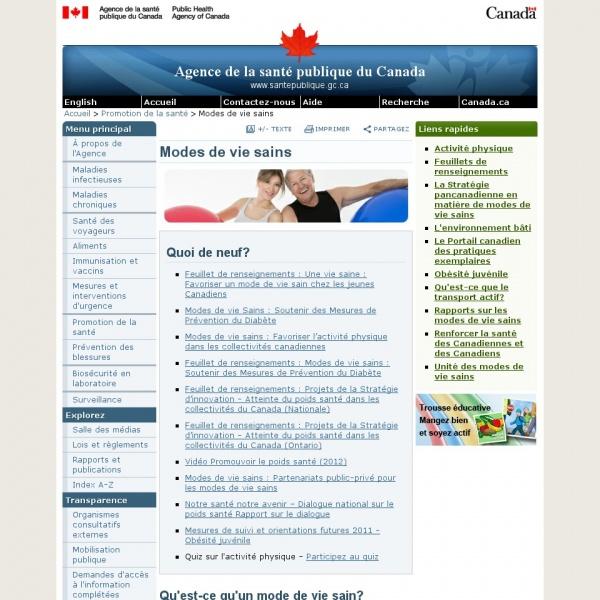Logo Agence de santé publique du Canada – Unité de l'activité physique