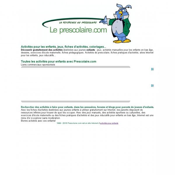 Logo Le Préscolaire.com