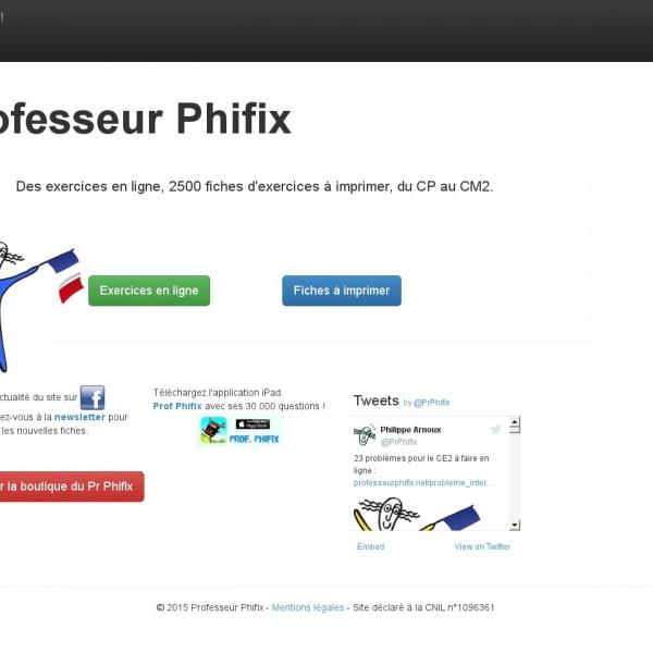 Logo Chez le professeur Phifix