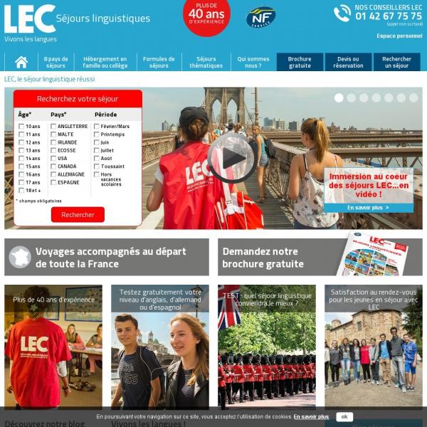 Logo Séjours linguistiques LEC