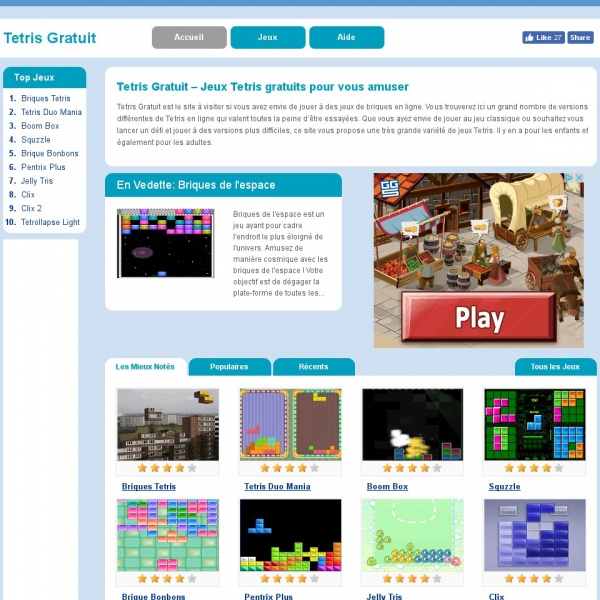 Logo Tetris en ligne
