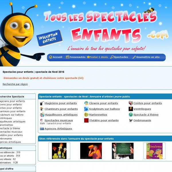 Logo Spectacle pour enfants, l'annuaire des artistes