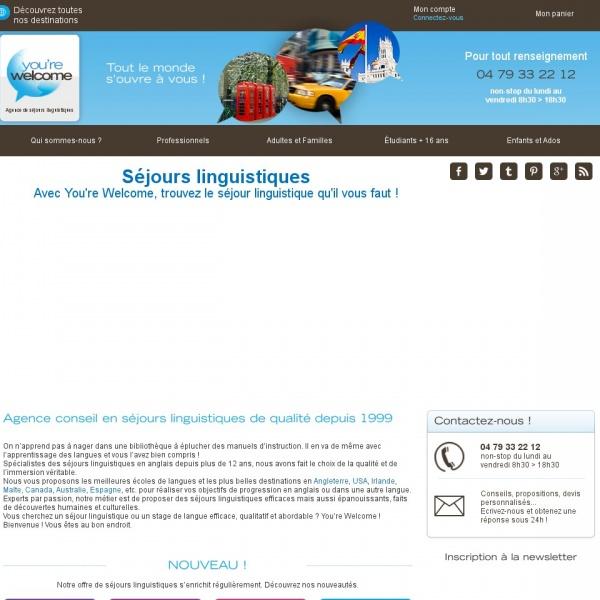 Logo You're Welcome – Séjours Linguistiques