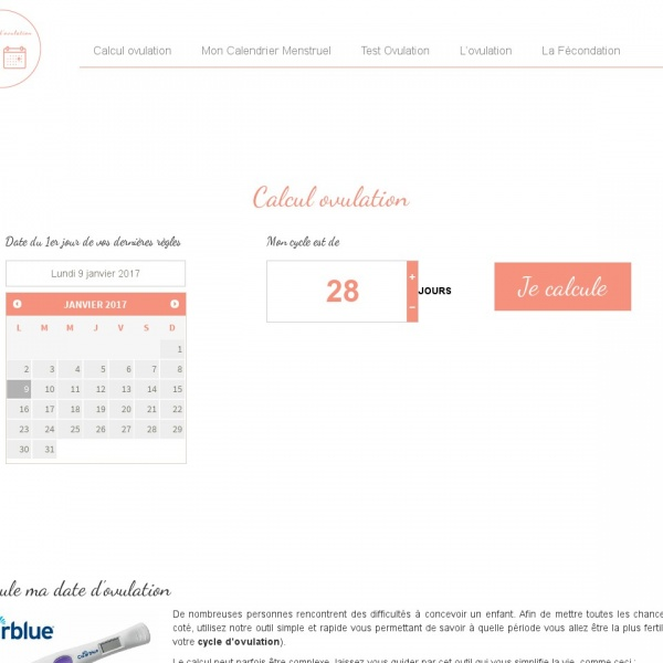Logo Calcul d'Ovulation